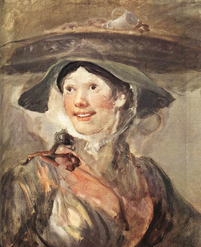 William Hogarth. The girl with the shrimp
