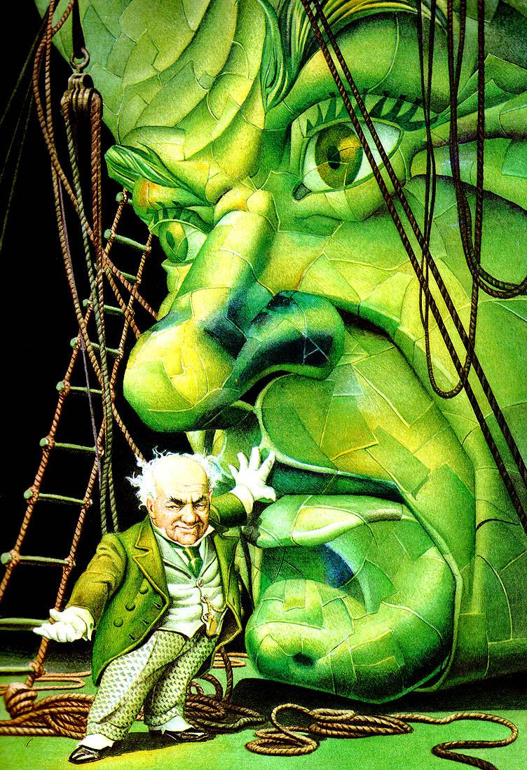 Чарльз Сантор. Зеленое лицо