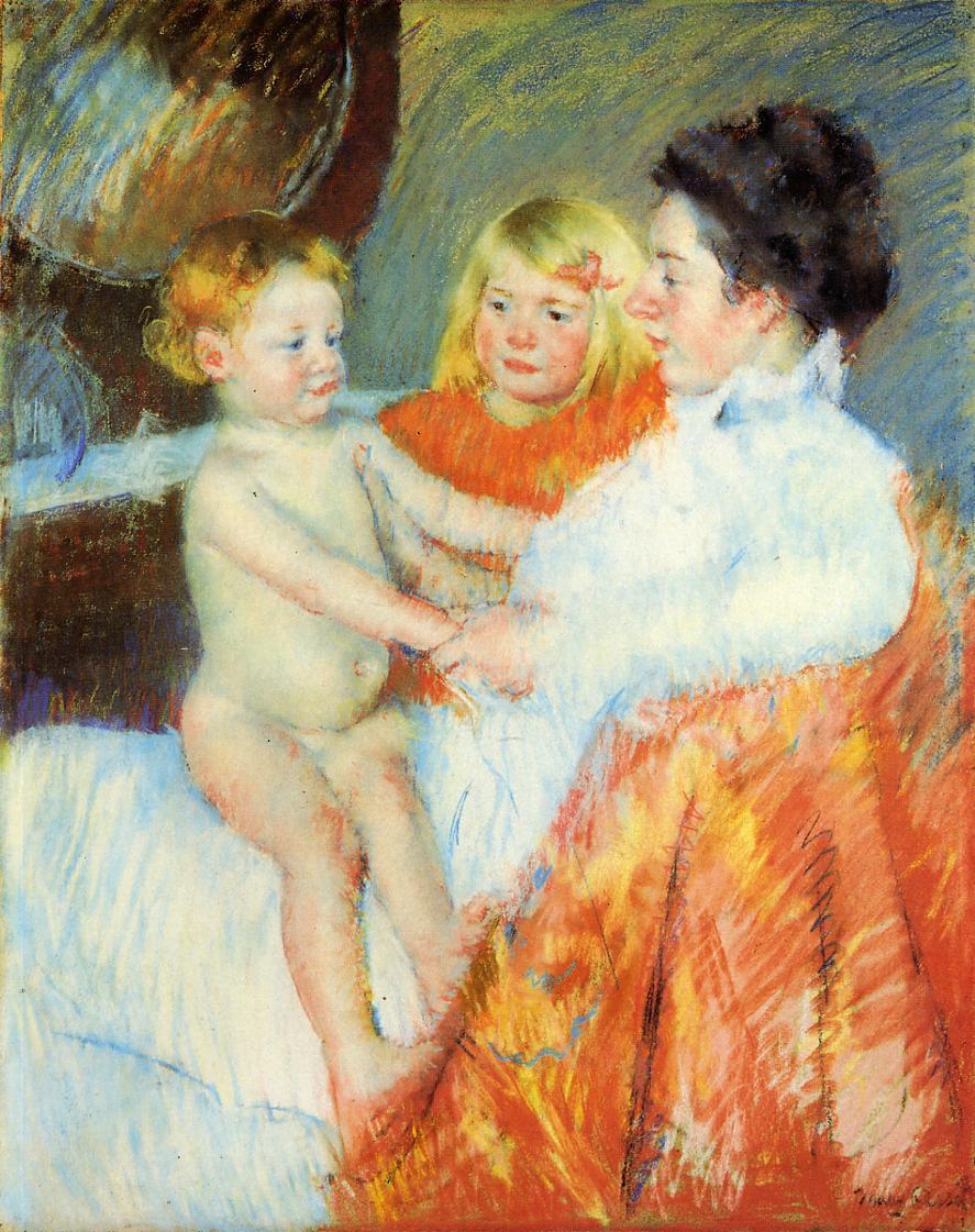 Mary Cassatt. Mother Sara and the baby