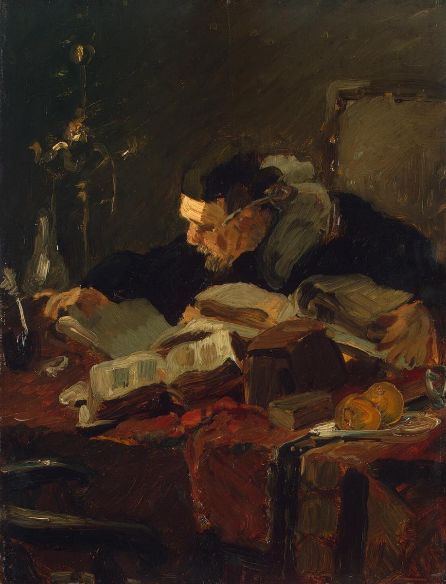 Эмиль Шарль Ваутерс. Ученый за столом
