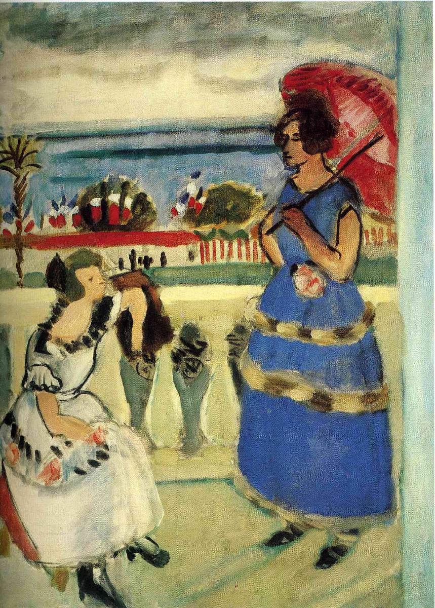 Анри Матисс. Девушка с красным зонтом