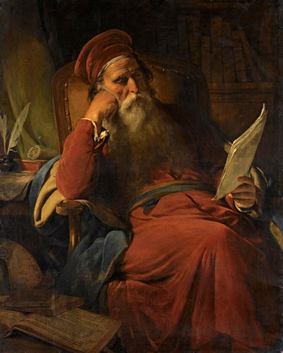 Фридрих фон Амерлинг. Ученый в своем кабинете. 1876