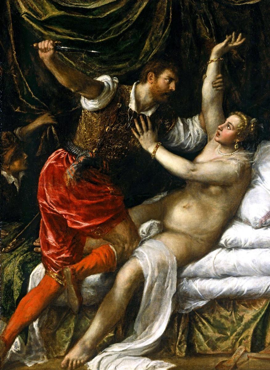 Тициан Вечеллио. Тарквиний и Лукреция