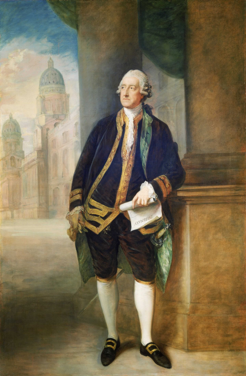 Томас Гейнсборо. Джон Монтэгю, 4-й граф Сандвича, 1-й лорд адмиралтейства