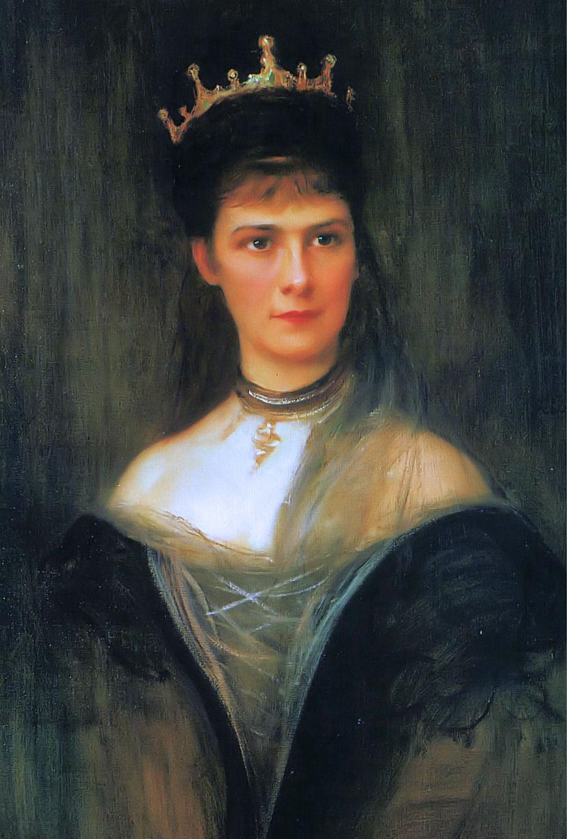 Филип Аликсис Де Ласло. Empress Elizabeth of Austria, Queen of Hungary and Bohemia (posthumous portrait)