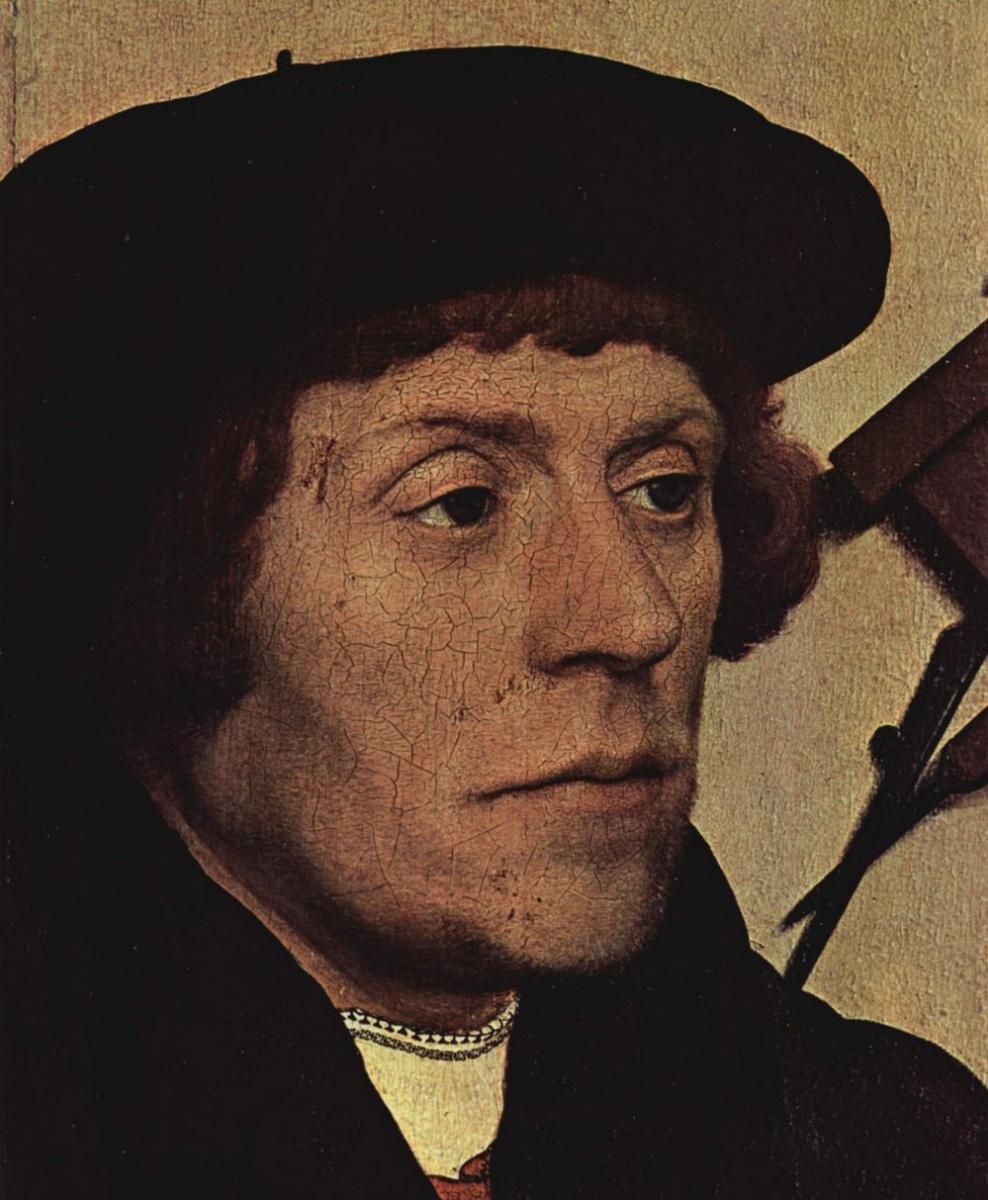 Hans Holbein the Younger. Portrait of the astronomer Nikolai Kratzer. Fragment