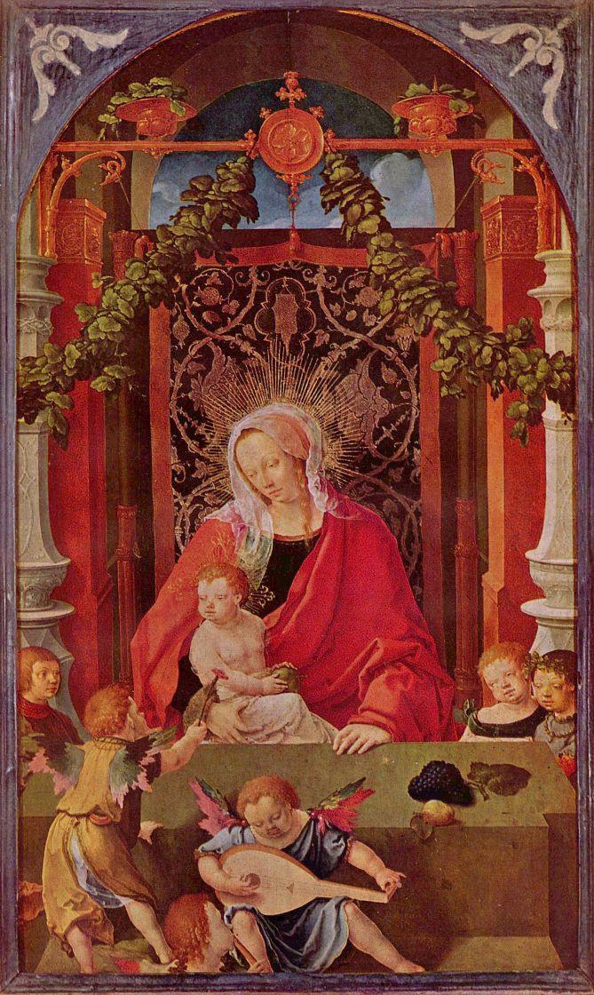 Лукас ван Лейден (Лука Лейденский). Мария с младенцем