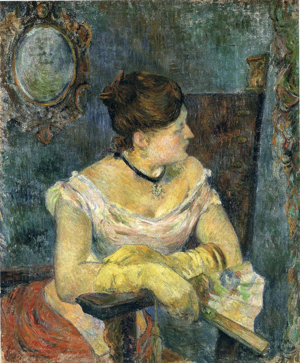 Paul Gauguin. Mette Gauguin in an evening dress