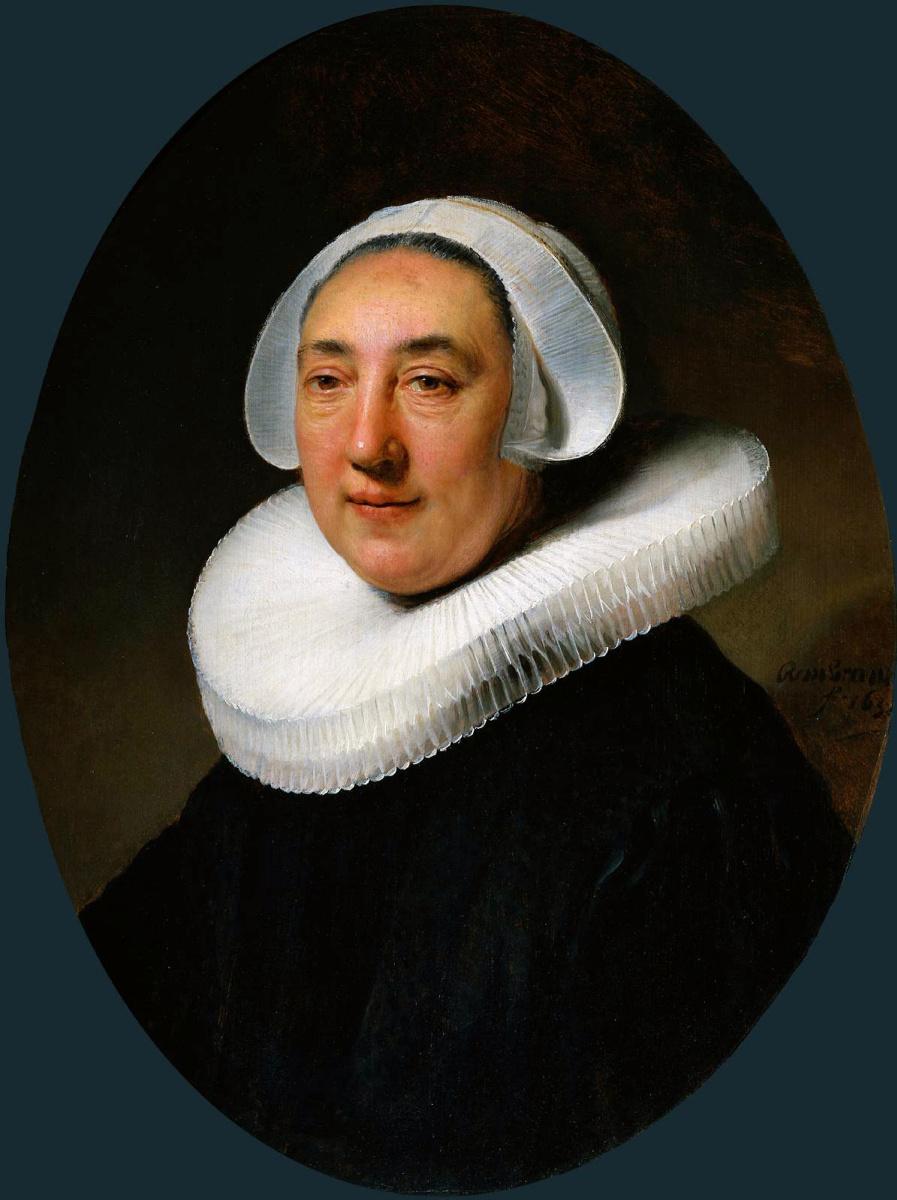 Рембрандт Ван Рейн. Женский портрет