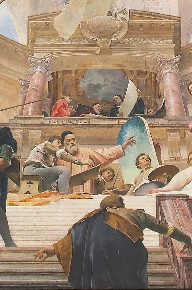 Михай Либ Мункачи. Апофеоз Ренессанса. Роспись потолка Венского музея истории искусств. Фрагмент I