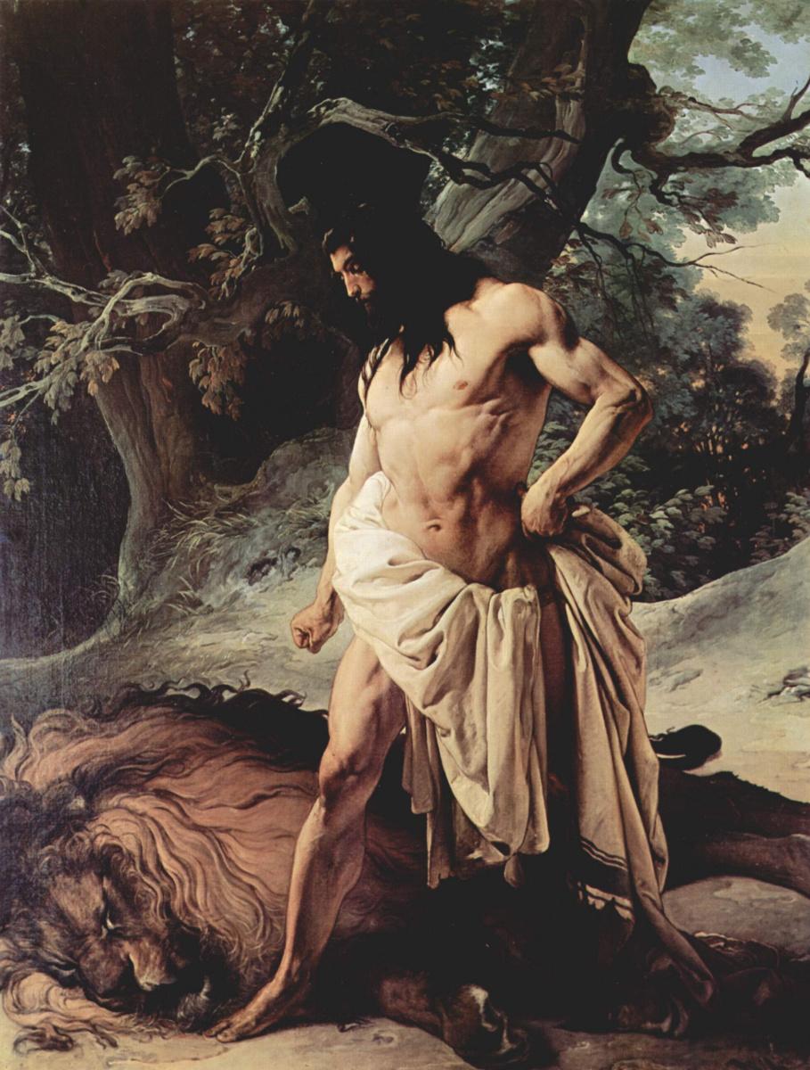 Франческо Айец. Самсон и лев