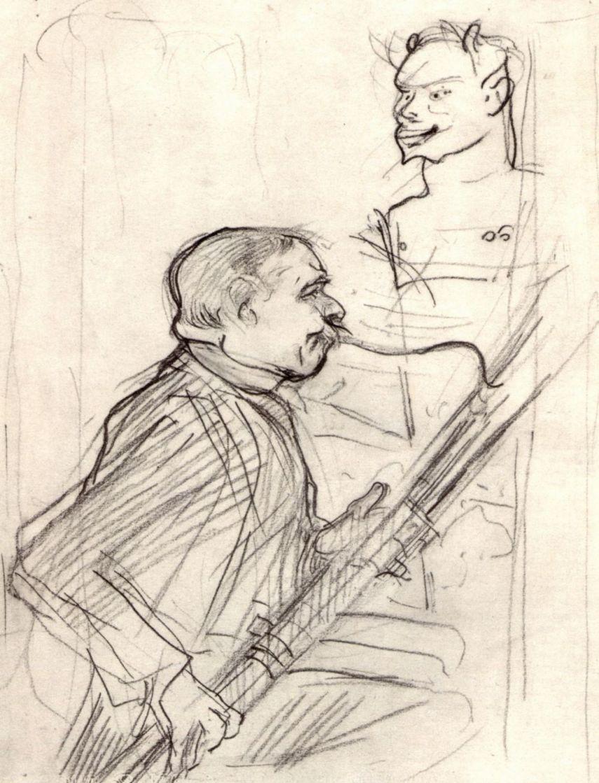 Анри де Тулуз-Лотрек. Дезире Дио, играющий на фаготе
