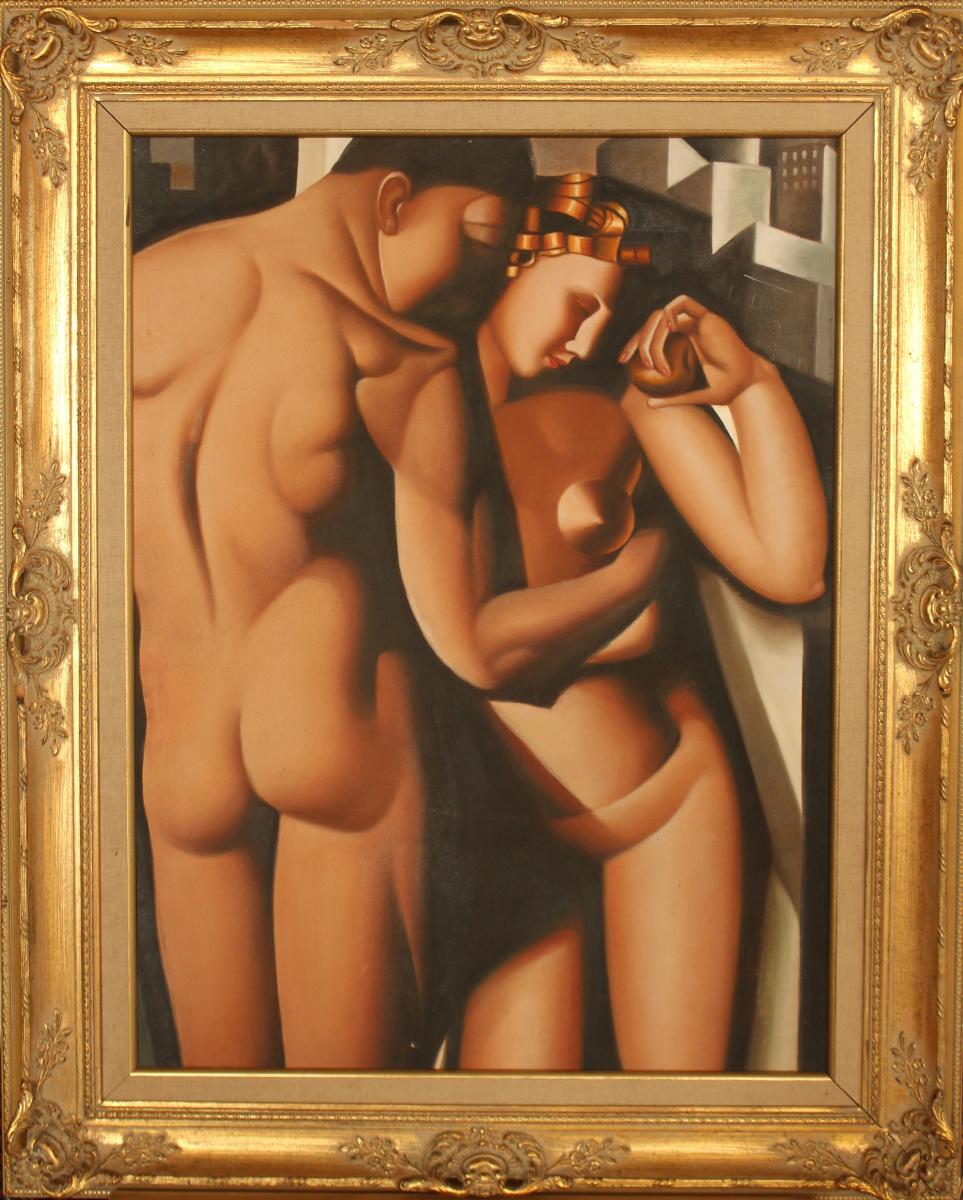 Неизвестный  художник. Адам и Ева (Лемпицка)