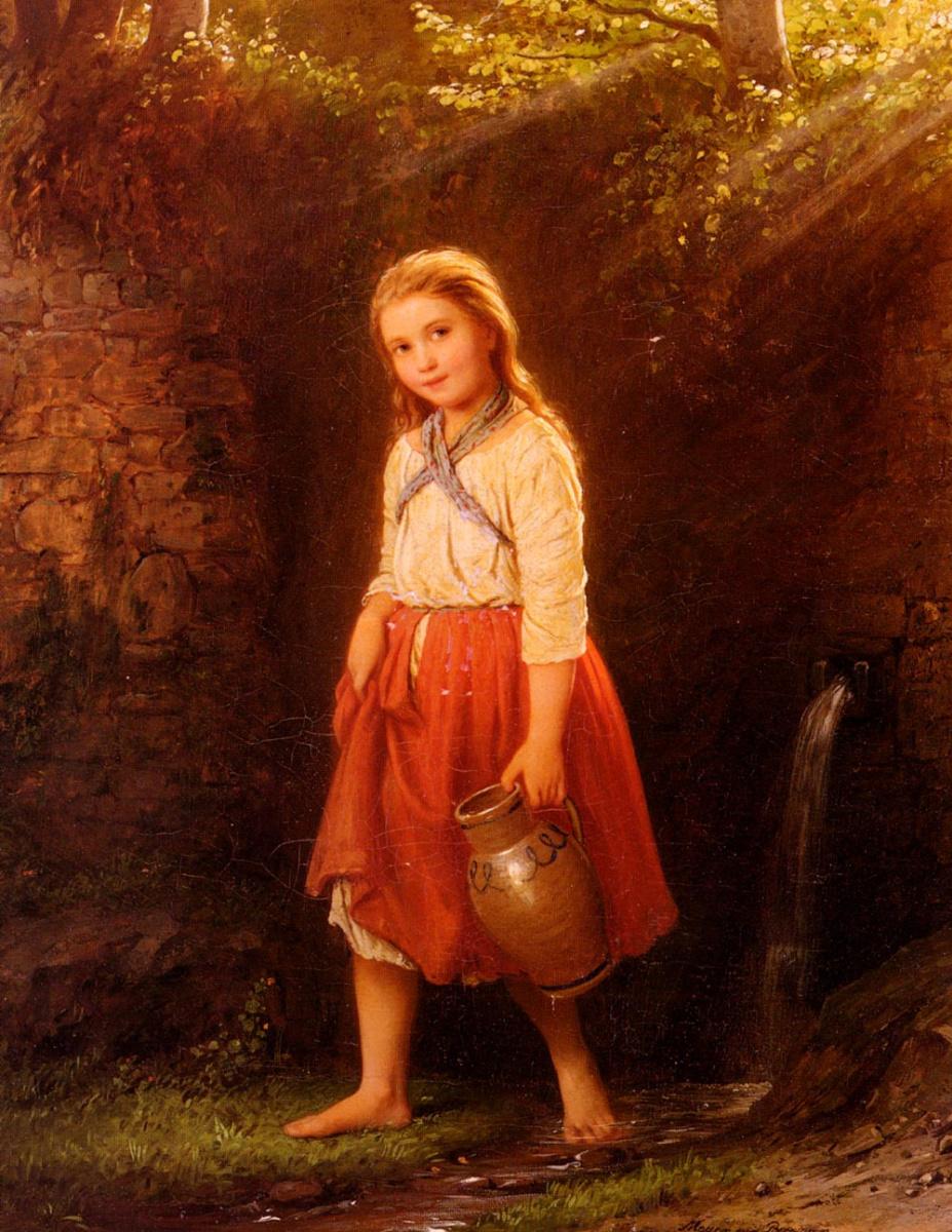 Иоганн Георг Мейер фон Бремен. Девушка с кувшином