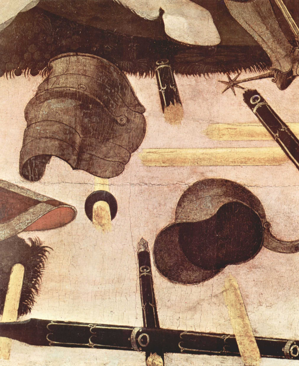 Paolo Uccello. Three paintings of the battle of Romano for the Medici Palace in Florence. Niccolo da Tolentino leader of the Florentine. Fragment