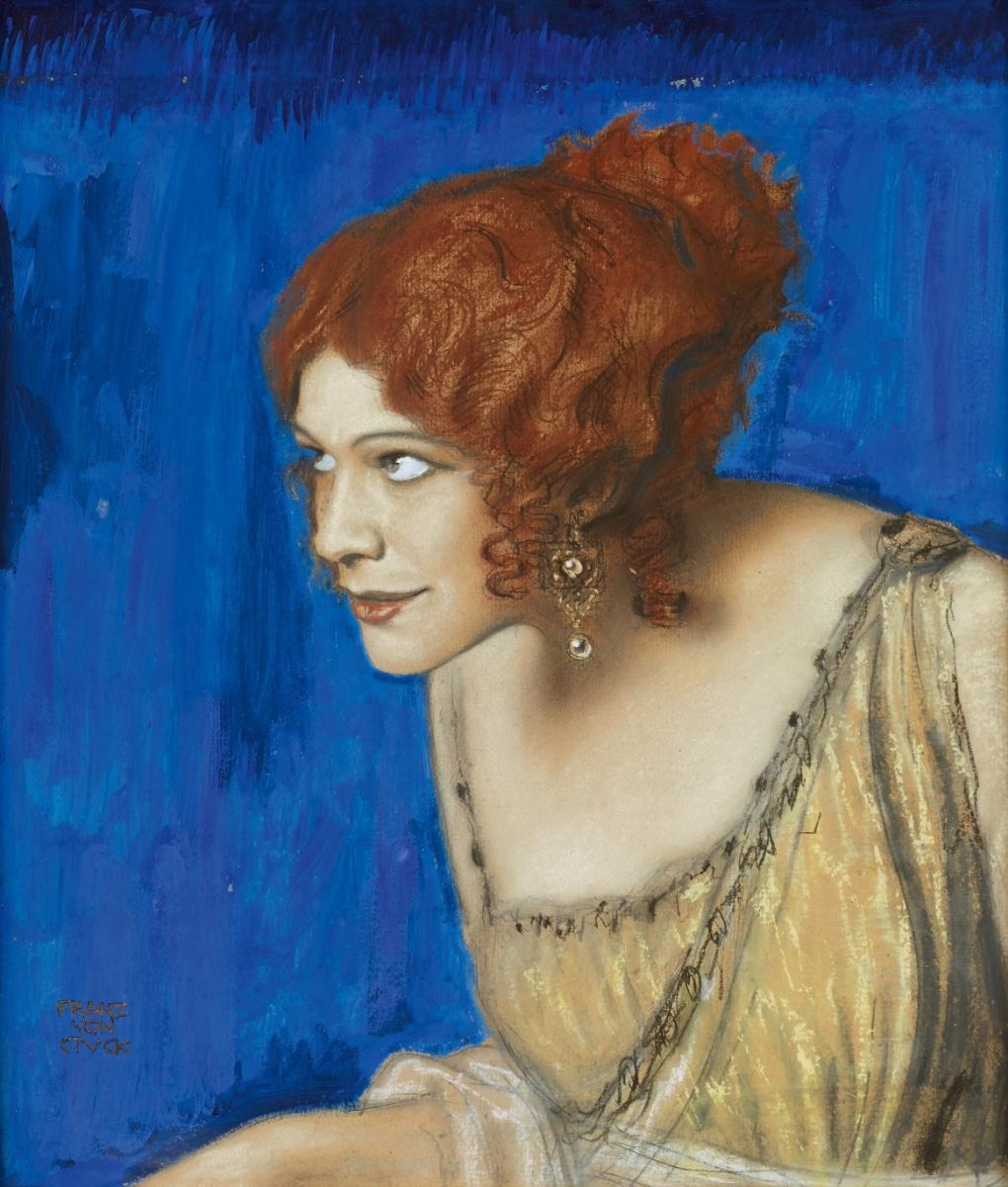 Franz von Stuck. Tilla Durie in the form of Circe. 1913
