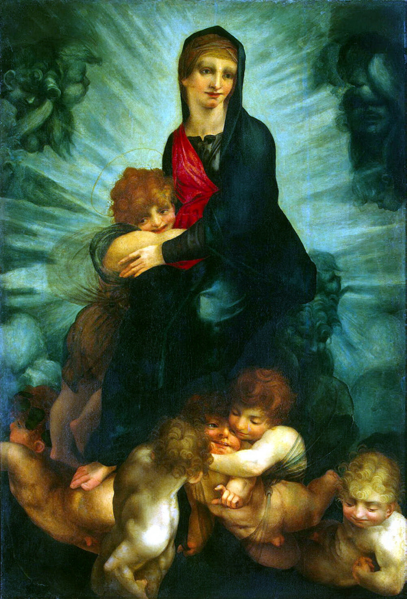 Джованни Баттиста Россо. Мадонна с младенцем и ангелами
