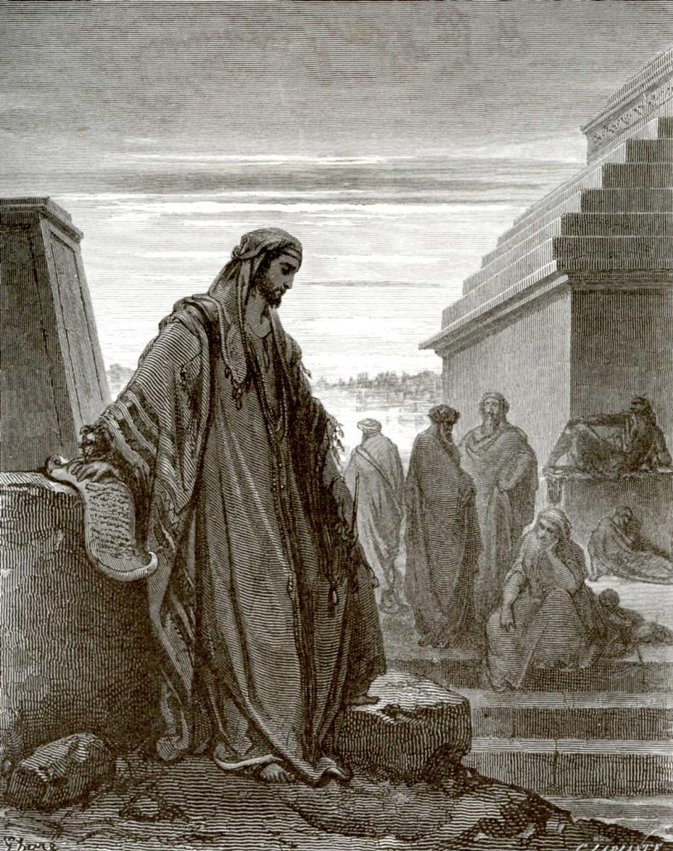 Поль Гюстав Доре. Иллюстрация к Библии: пророк Даниил