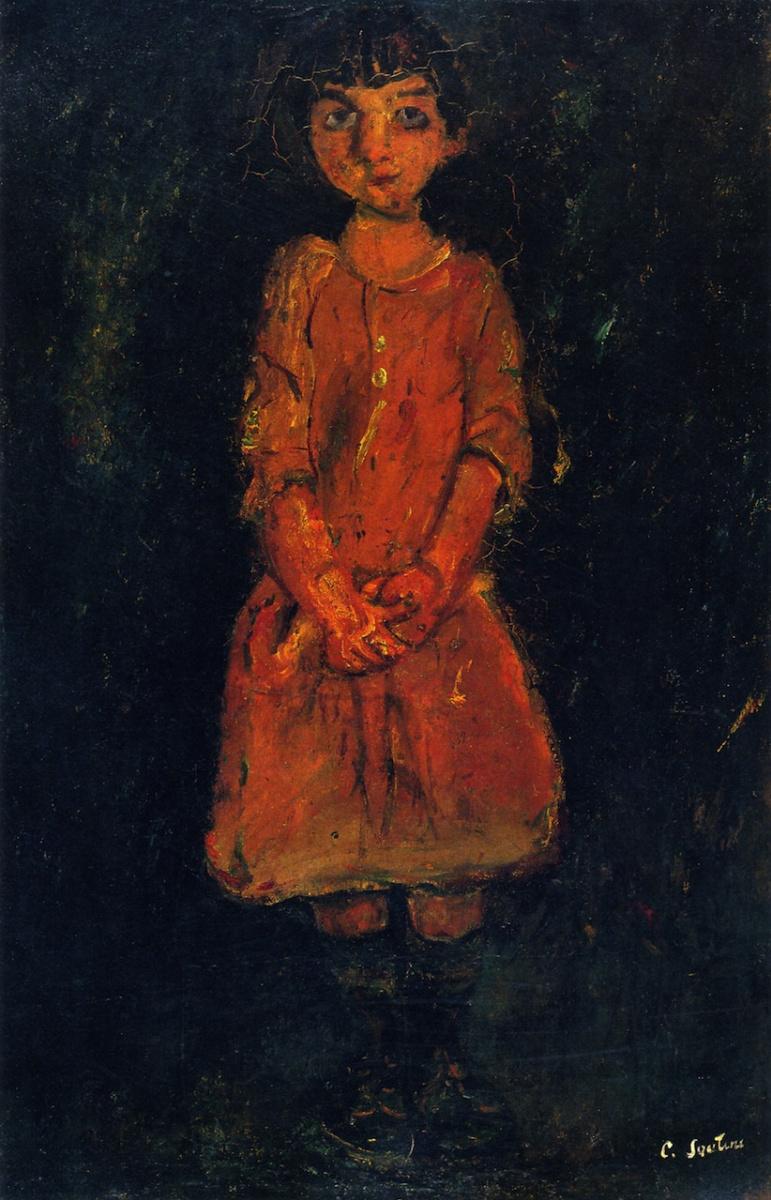 Хаим Соломонович Сутин. Маленькая девочка в розовом платье