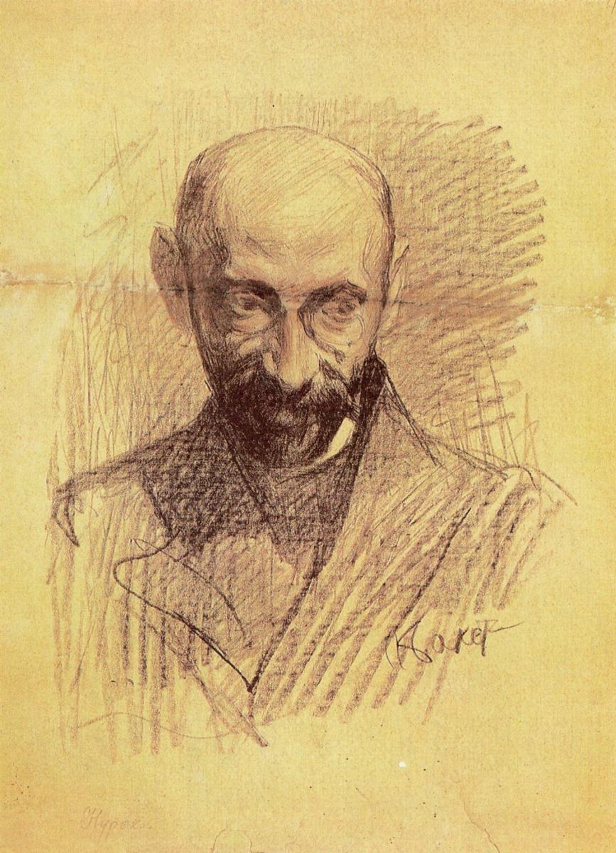 Lev Samoilovich Bakst (Leon Bakst). Portrait of a critic Alfred Nyroca