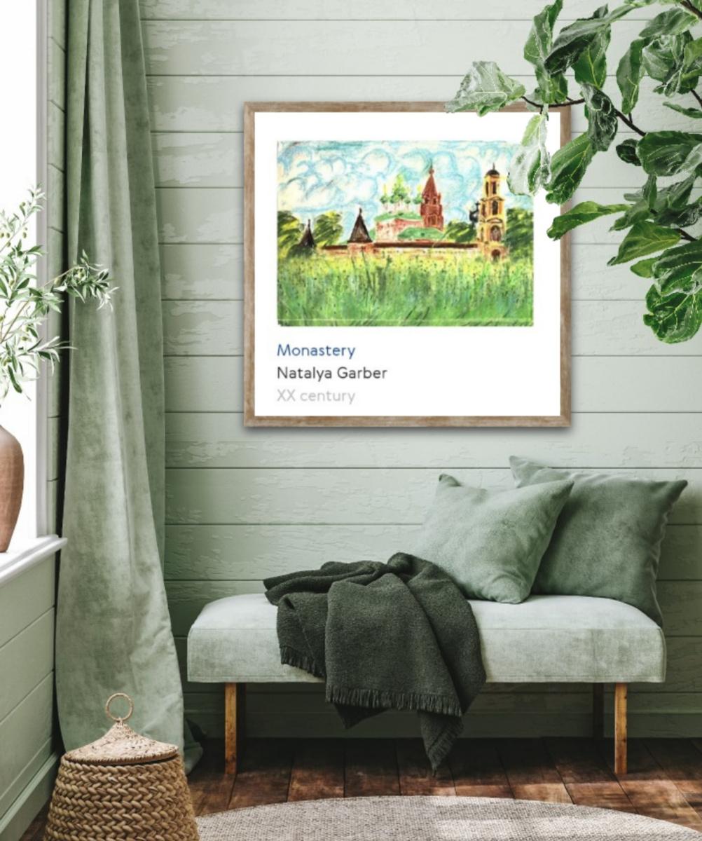 Natalya Garber. Monastery. Interior for a retreat center