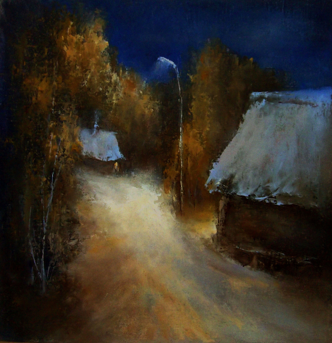 Elena Yudina. Night, street, lantern