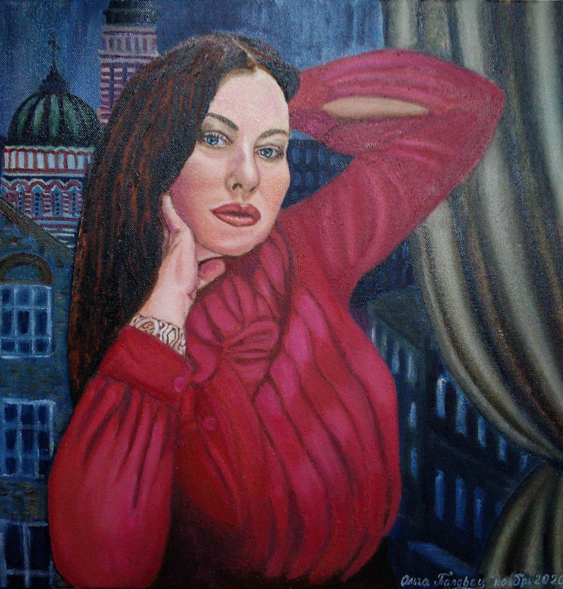 Olga Polovtsy. Self-portrait
