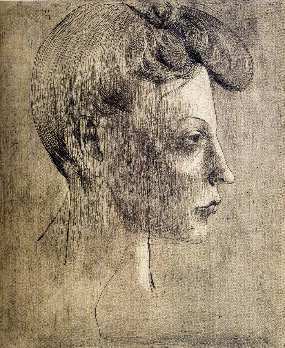 Пабло Пикассо. Профиль женщины