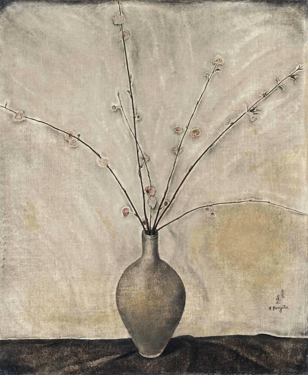 Цугухару Фудзита ( Леонар Фужита ). Fleurs de cerisier