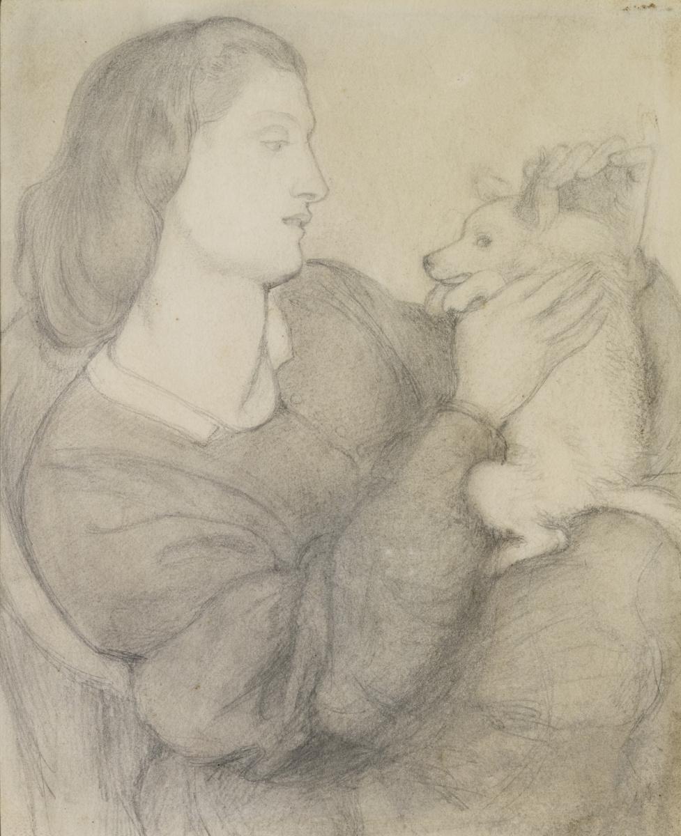 Данте Габриэль Россетти. Девушка с собакой
