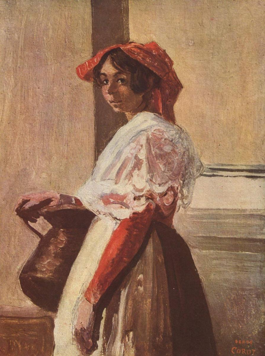 Камиль Коро. Итальянка с кувшином