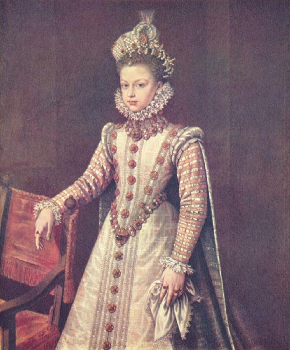 Alonso Sanchez Coello. Portrait of the Infanta Isabella Clara Eugenia