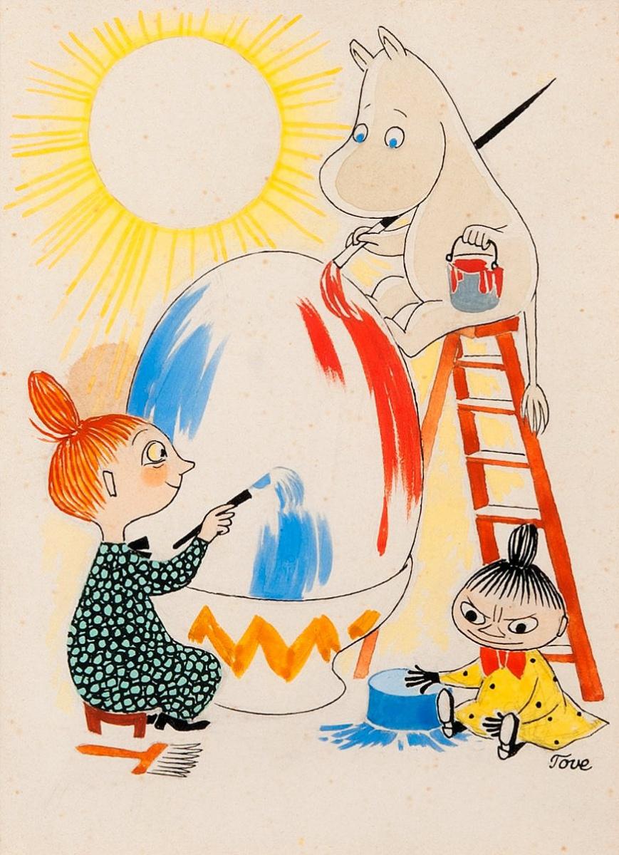 Туве Янссон. Пасхальное яйцо. Мими-персонажи
