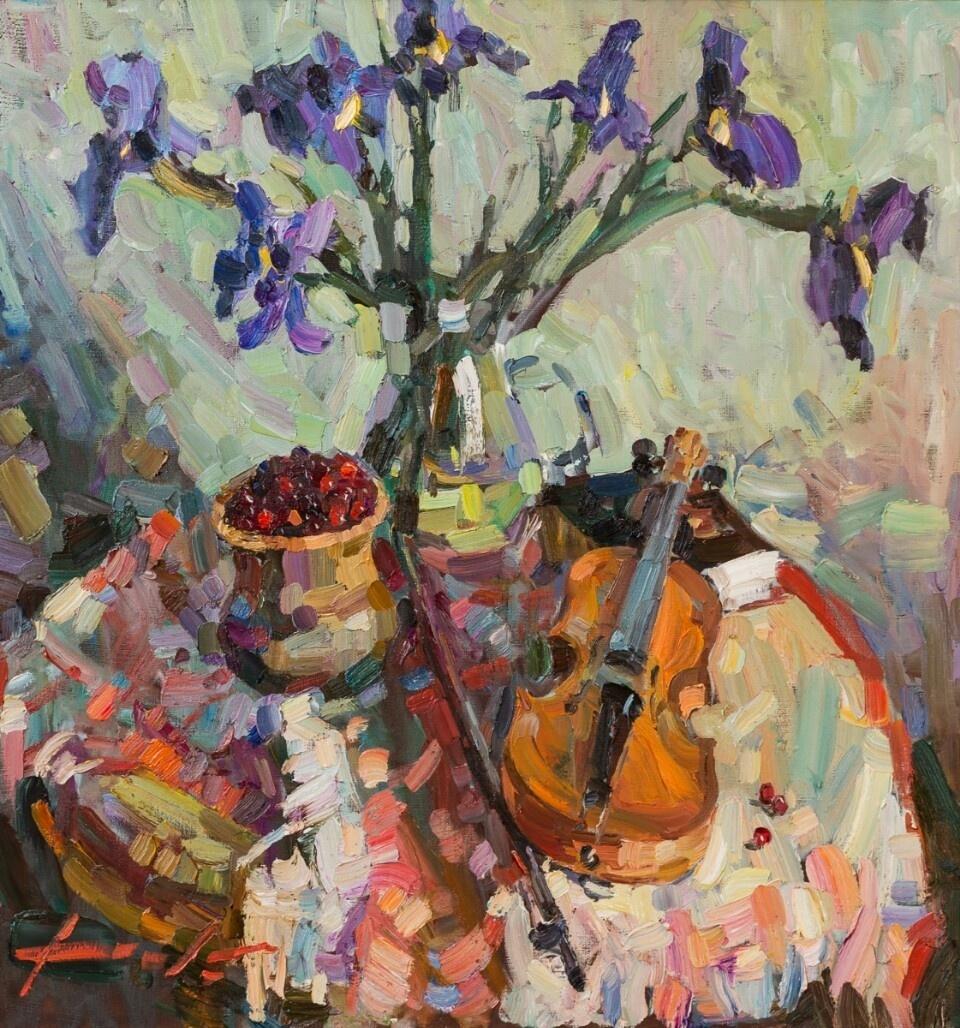 "Constantine Dolgashev. ""Still life with violin"""