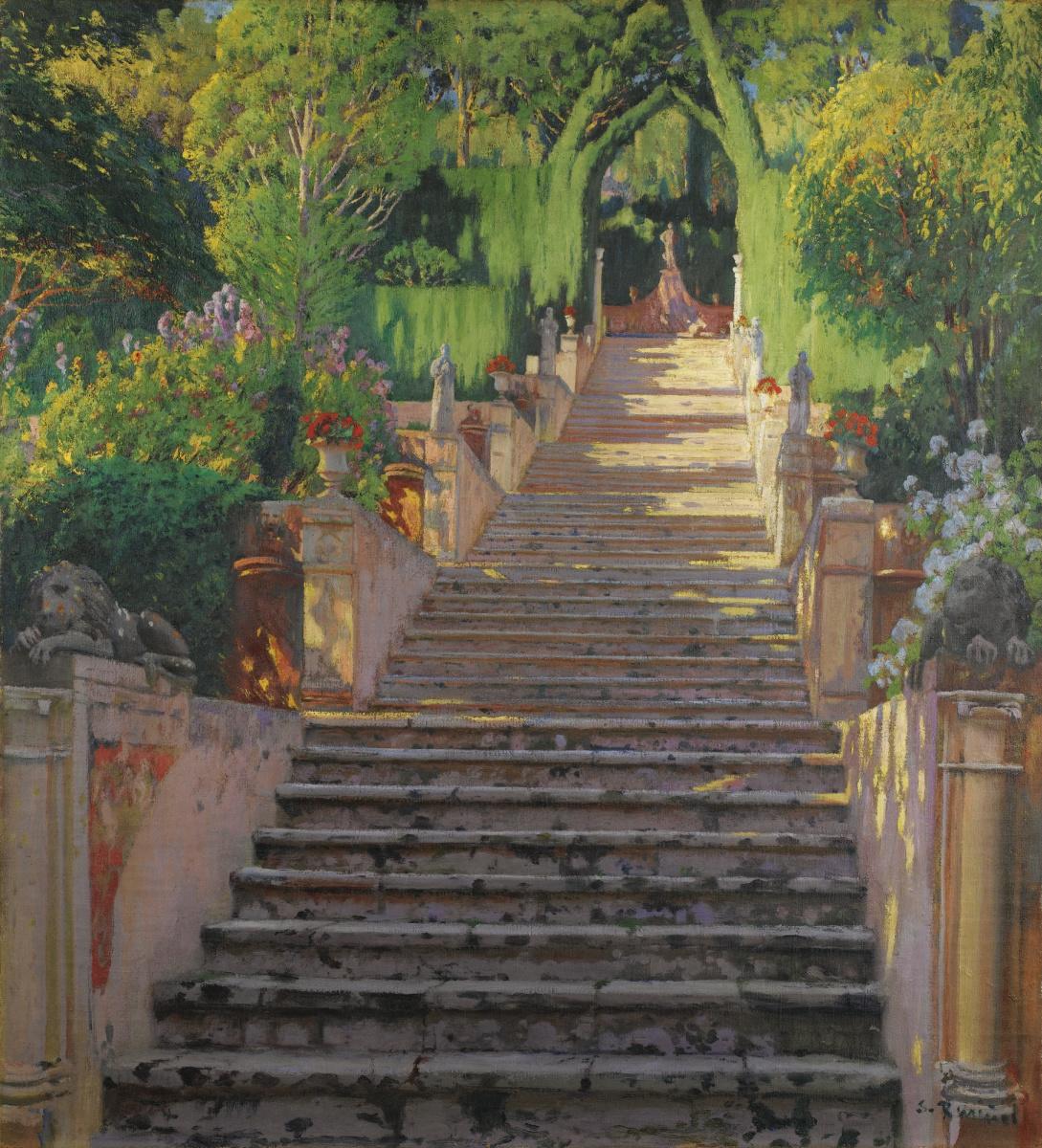 Santiago Rusignol. Old staircase