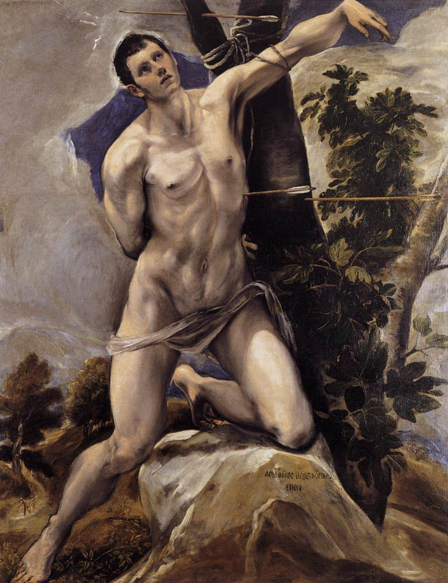 Эль Греко (Доменико Теотокопули). Мученичество святого Себастьяна
