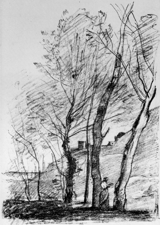 Камиль Коро. Чтение под деревьями