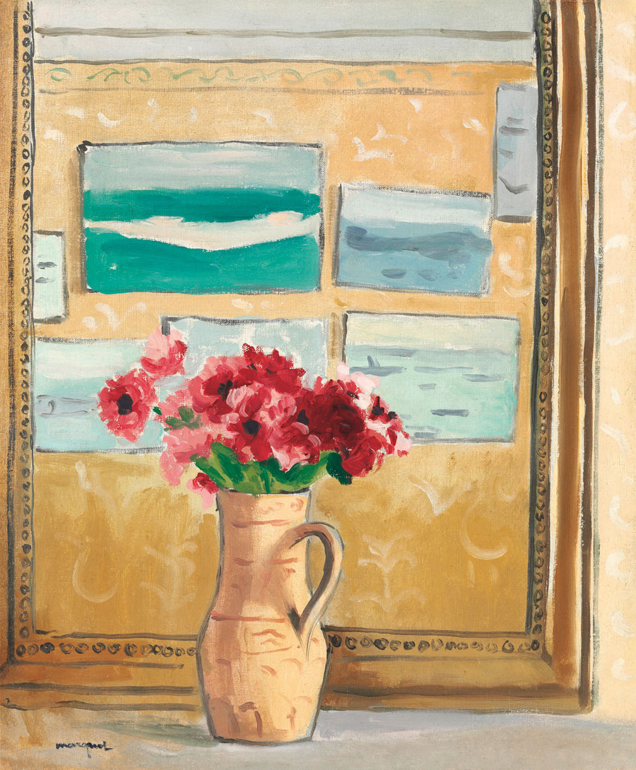 Albert Marquet. The flowers on the mirror