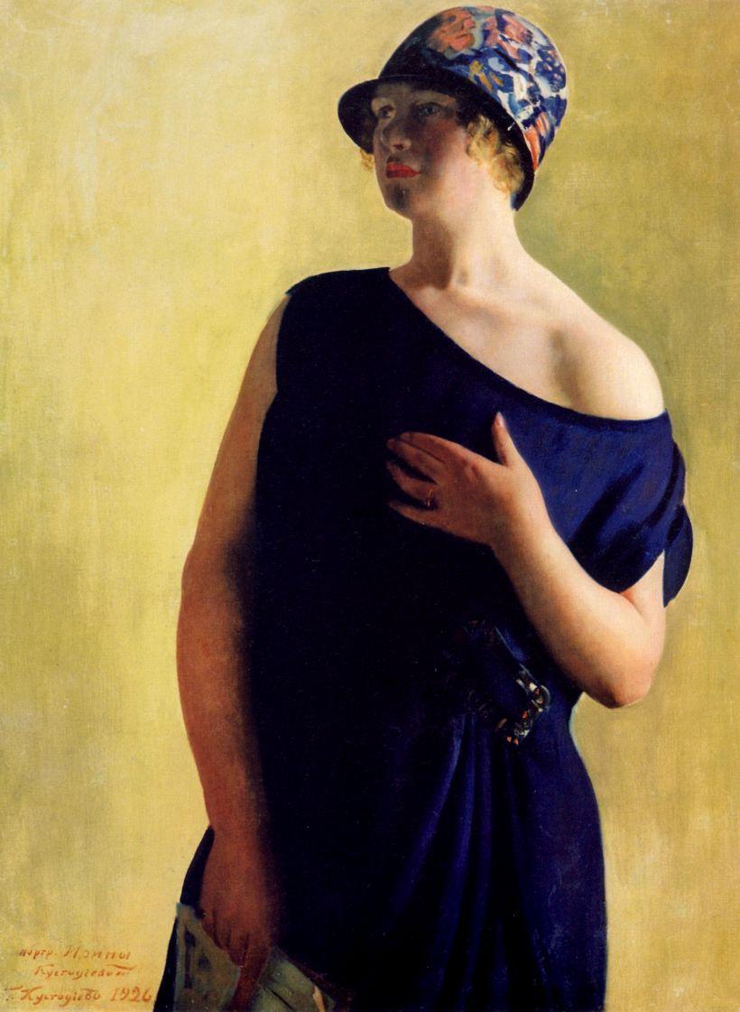 Борис Михайлович Кустодиев. Портрет И. Б. Кустодиевой, дочери художника