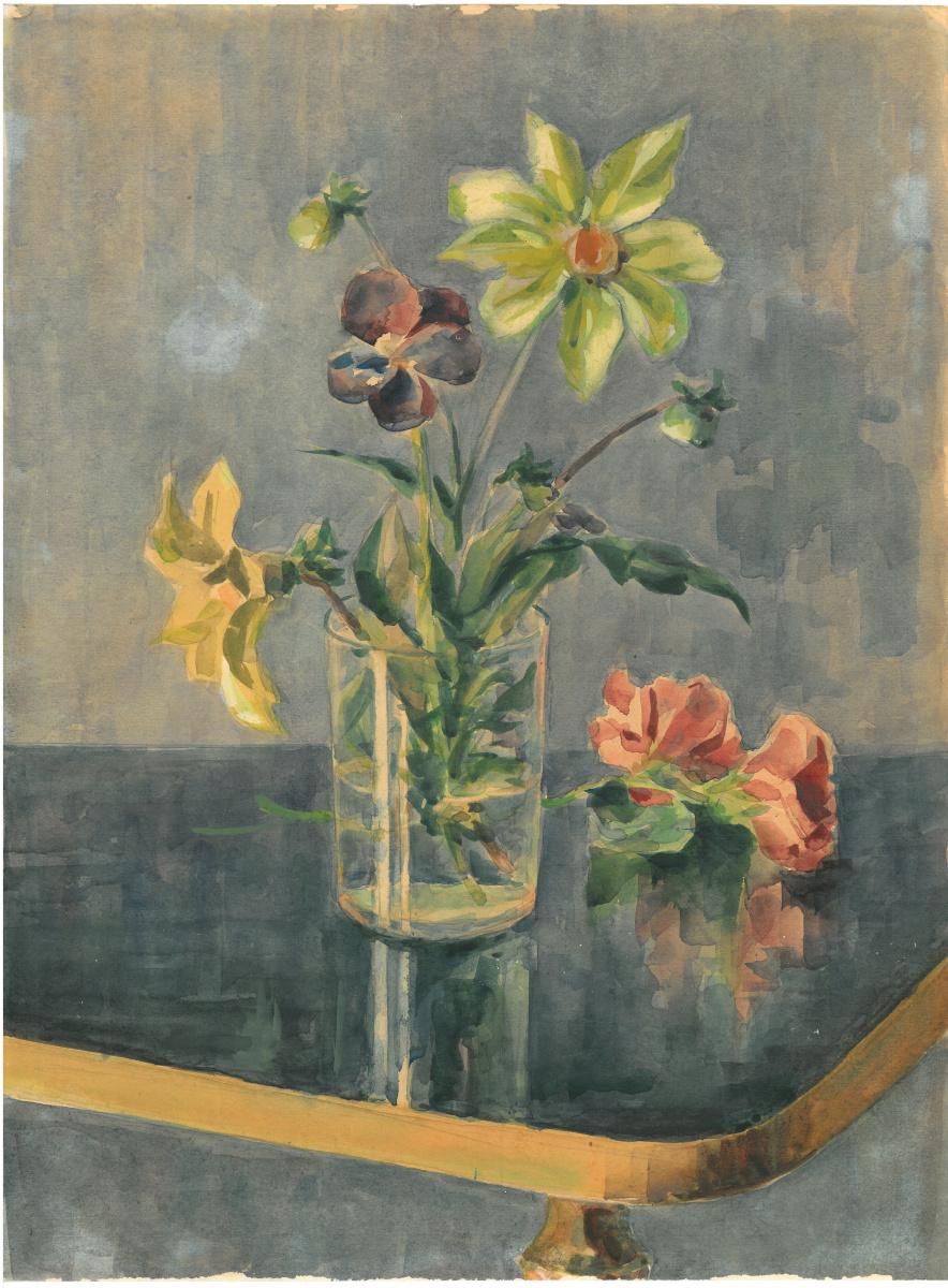 Arkady Pavlovich Laptev. Flowers in a glass