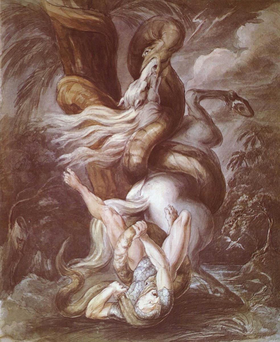 Иоганн Генрих Фюссли. Рыцарь, поверженный гигантской змеёй