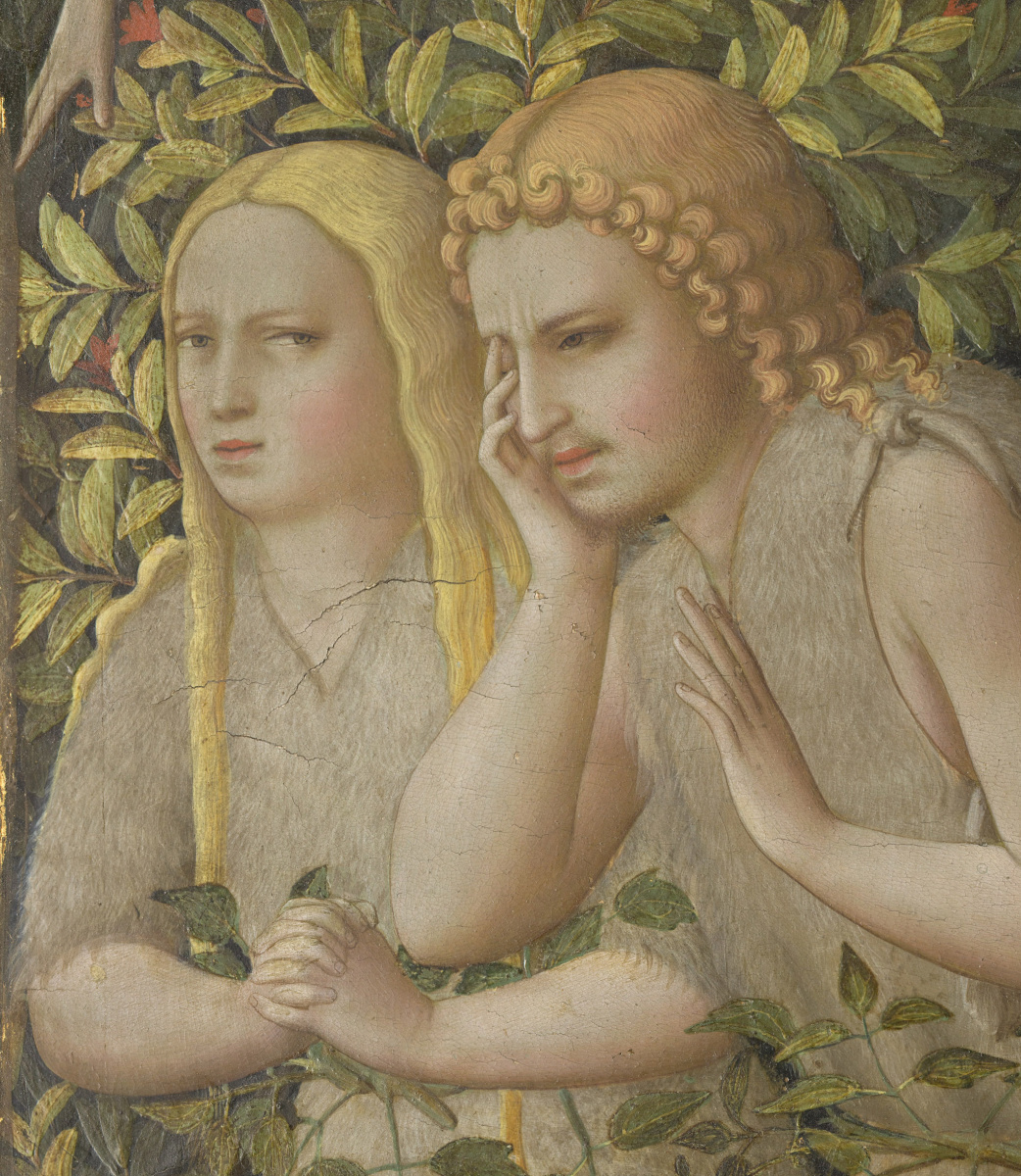 Fra Beato Angelico. Altar of the Annunciation of Mary. Fragment. Adam and Eve
