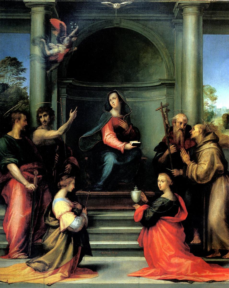 Делла Порта Баччо. Благовещение со святыми