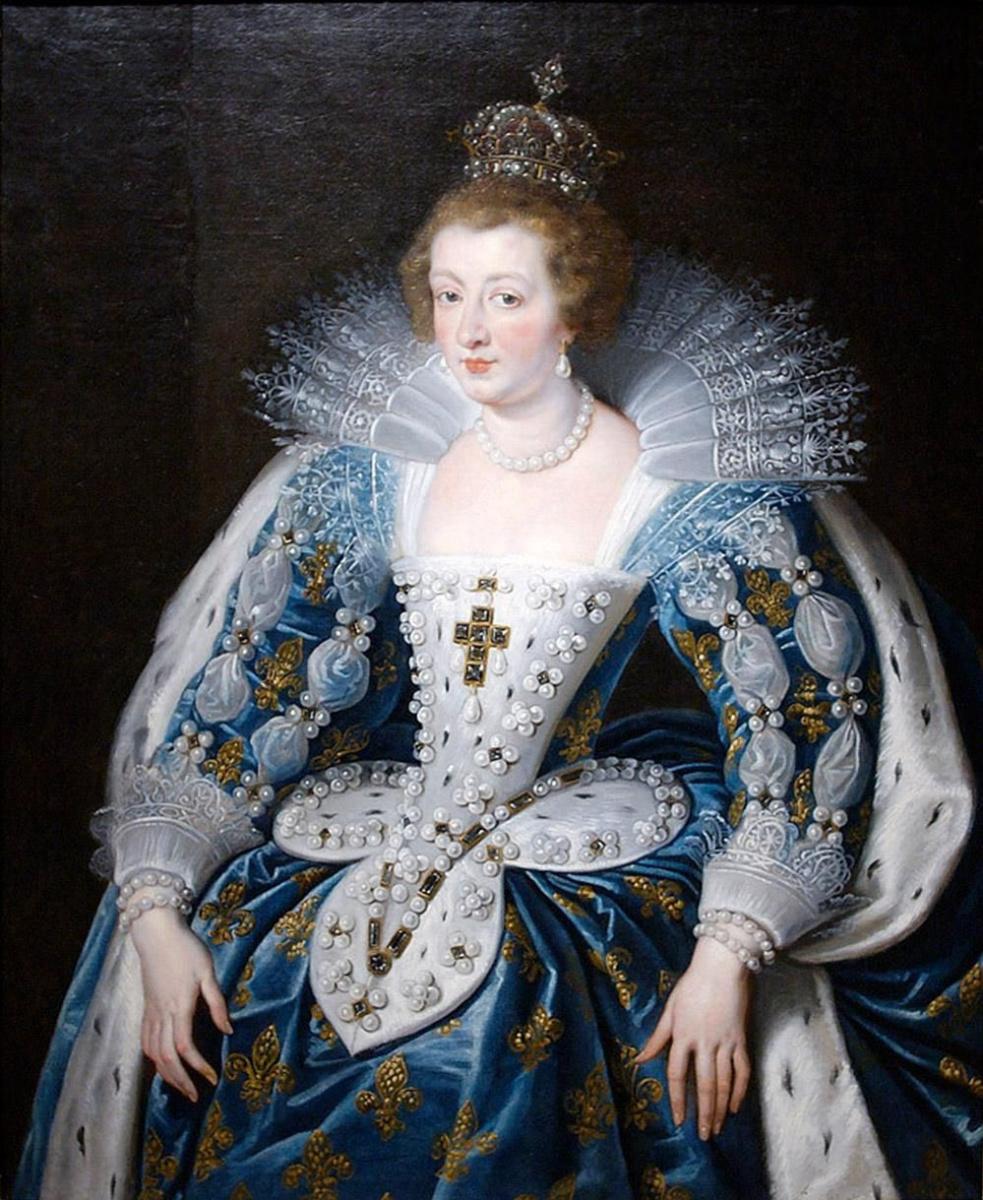 Peter Paul Rubens. Portrait of Anna of Austria, Queen of France