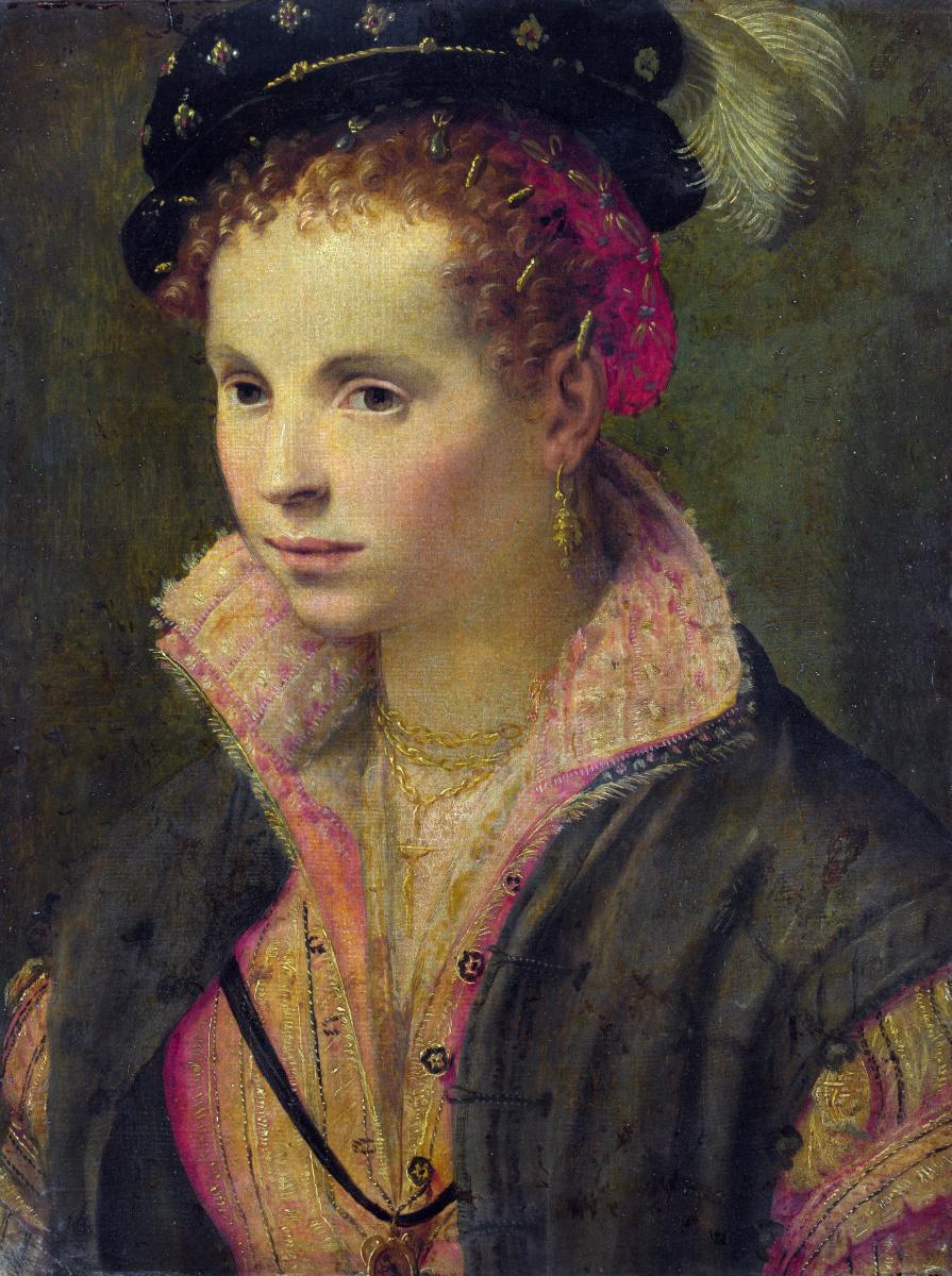 Северной Итальянский. Портрет дамы в шляпе с перьями