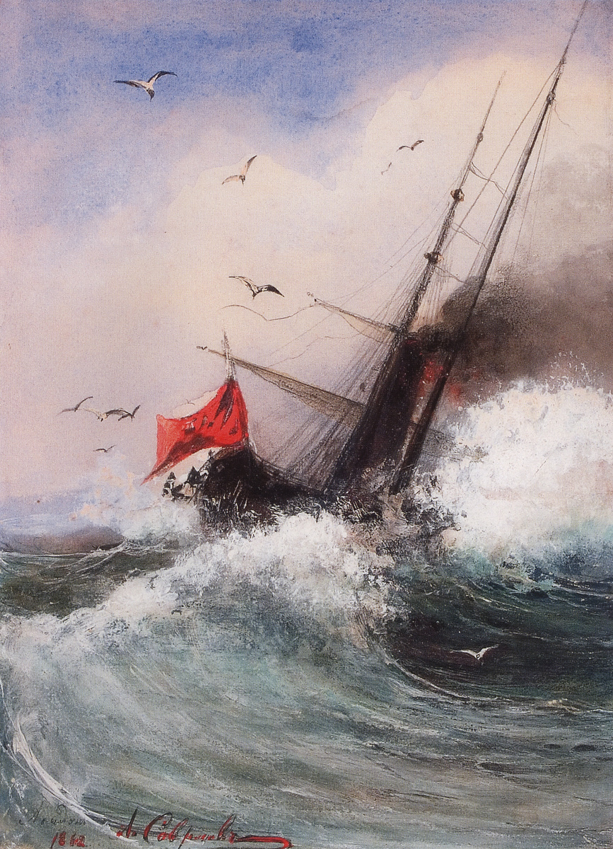 Алексей Кондратьевич Саврасов. Гибель корабля в море