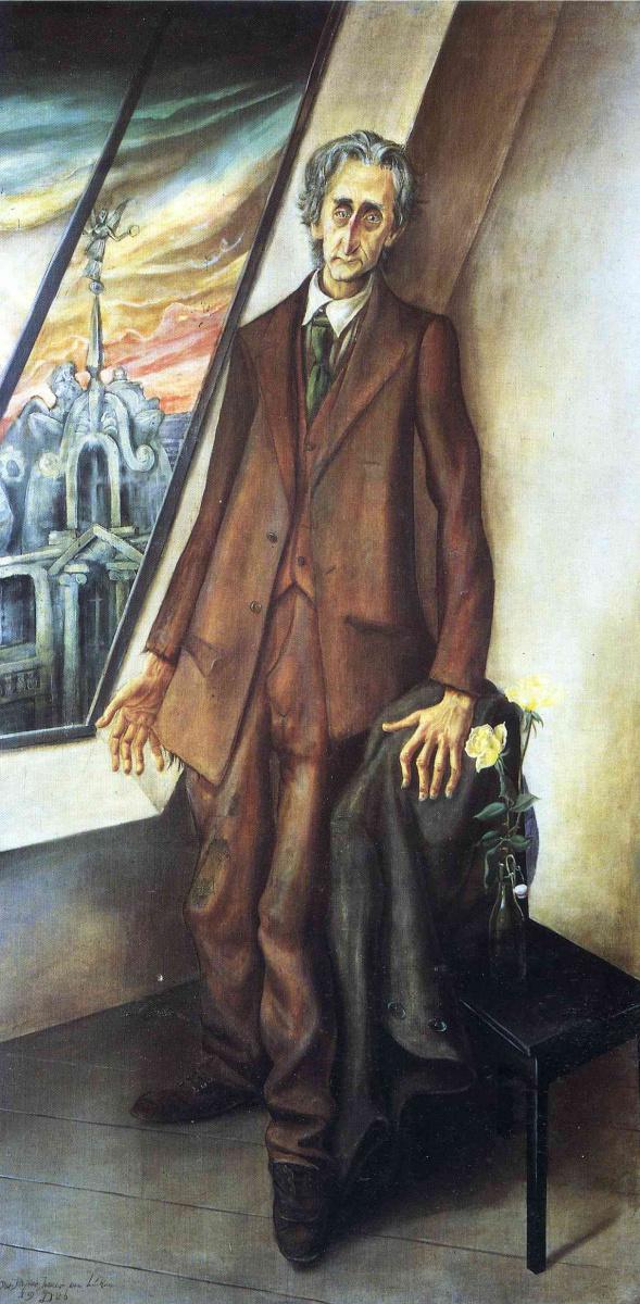 Отто Дикс. Портрет поэта Ивара ван Люкена