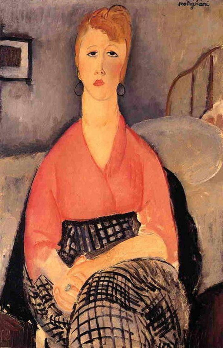 Амедео Модильяни. Розовая блуза