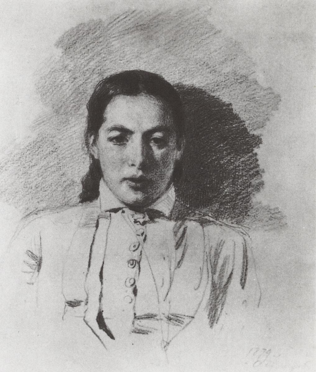 Vasily Dmitrievich Polenov. Portrait of Natalia yakunchikovoy, wife Polenov