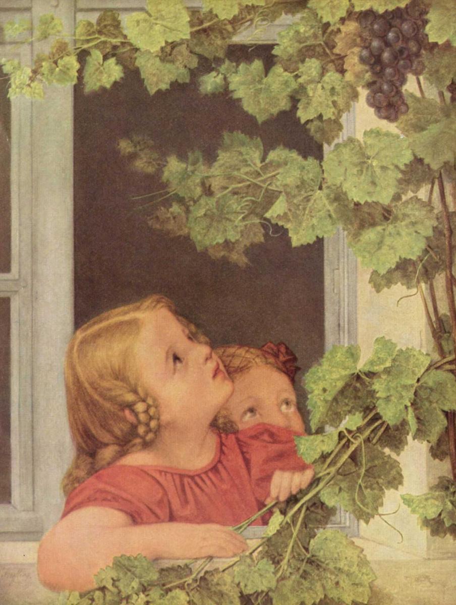 Георг Фридрих Керстинг. Дети у окна
